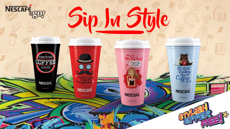 Sip your favorite NESCAFÉ 3in1 in style with the cool NESCAFÉ Sippers!
