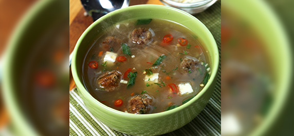 Beef Cheese  Vegetable Soup